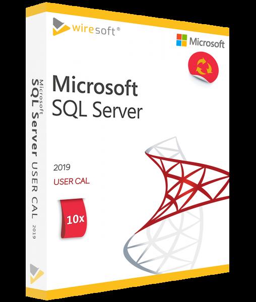 MICROSOFT SQL SERVER 2019 - 10 PACK USER CAL