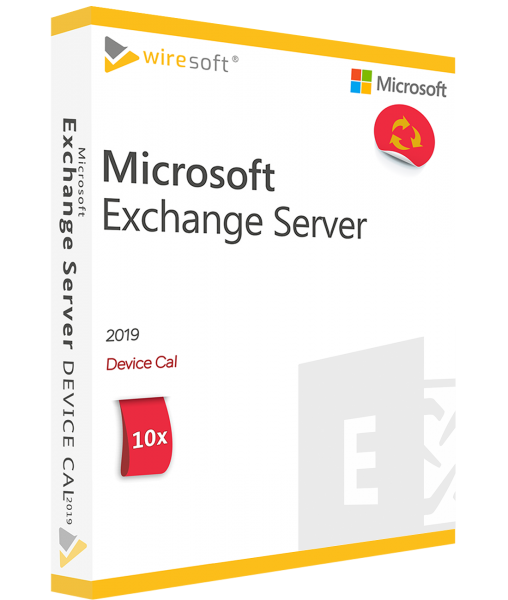 MICROSOFT EXCHANGE SERVER 2019 - 10 PACK DEVICE CAL