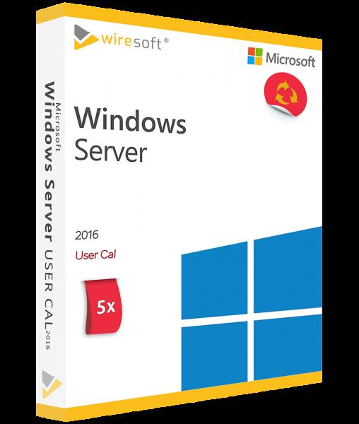 MICROSOFT WINDOWS SERVER 2016 - 5 PACK USER CAL
